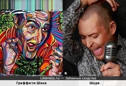 Граффити Шака и Шура