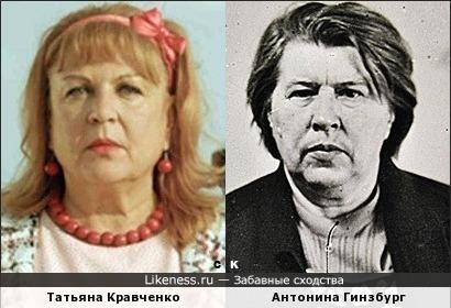 Татьяна Кравченко и Антонина Гинзбург