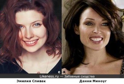 Эмилия Спивак и Данни Миноуг