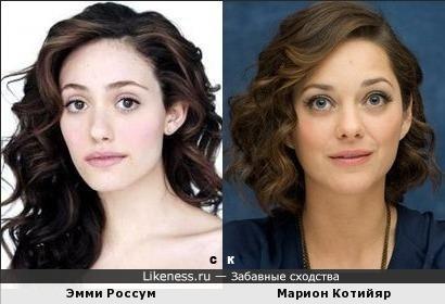 Эмми Россум и Марион Котийяр