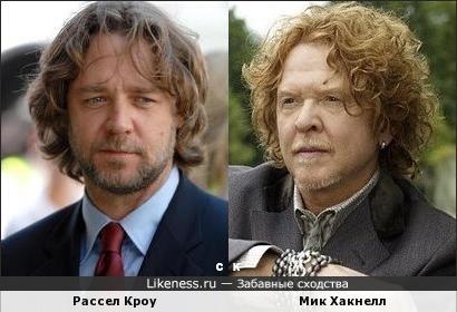 Рассел Кроу и Мик Хакнелл