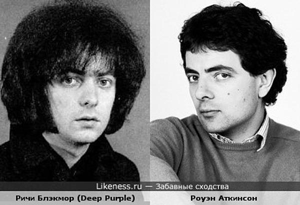 Ричи Блэкмор и Роуэн Аткинсон были похожи в молодости
