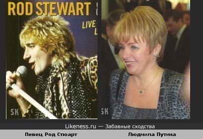 Людмила Путина & рок-певец Род Стюарт (1), SK