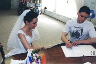 Сергей Удальцов на собственной свадьбе