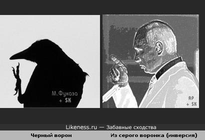 """""""Забавное"""" сходство: черный ворон из серого воронка (про Путина)"""