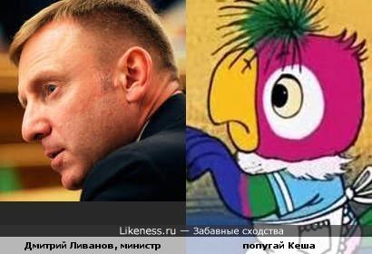 Возвращение блудного министра (Дмитрий Ливанов, министр образования и попугай Кеша)