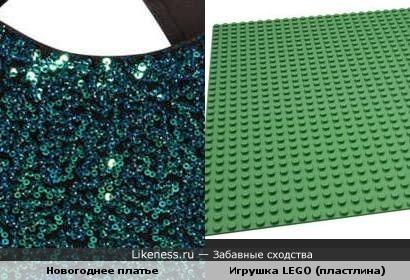 """Новогоднее платье из """"Лего"""""""