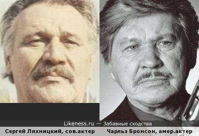 Оцените: Сергей Ляхницкий и Чарльз Бронсон