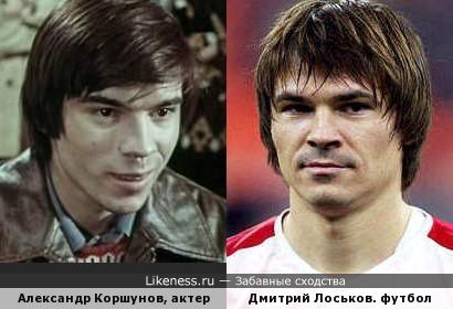 Александр Коршунов, актер. Дмитрий Лоськов. футболист