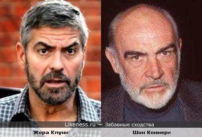 Джордж Клуни становится похож на Шона Коннери