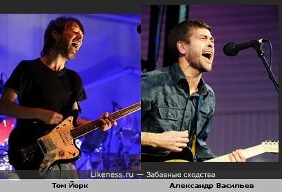 лидер группы Сплин очень похож на лидера группы Radiohead