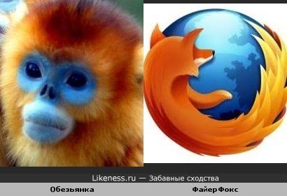 Обезьянка Файерфокс