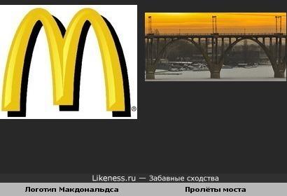 Эмблема похожа на мост в Днепропетровске