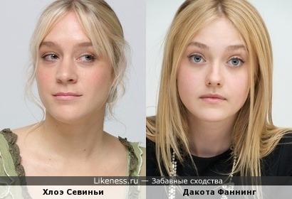 Две актрисы как сестры