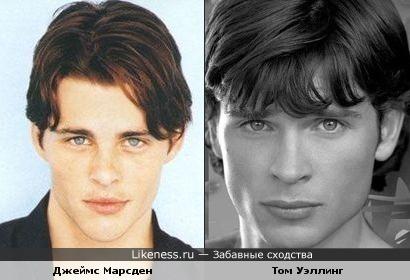 Джеймс Марсден похож на Тома Уэллинга
