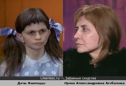 Дочь Фантоцци и Ирина Александровна Агибалова (Дом 2)