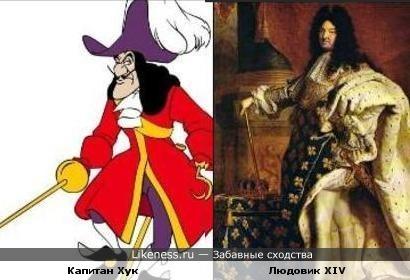 Капитан Хук похож на Людовика XIV