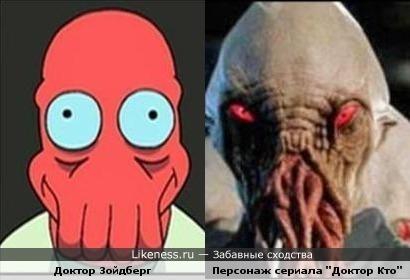 """Доктор Зойдберг похож на Персонажа сериала """"Доктор Кто"""""""