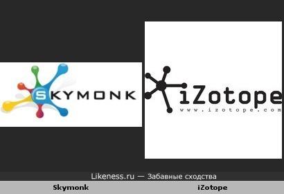 Лого Skymonk похоже на лого iZotope
