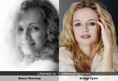 Анна Миклош vs Хизер Грэм