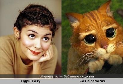 Одри Тоту и Котик