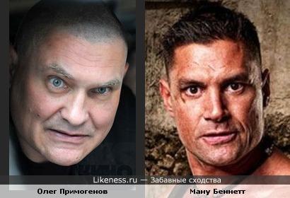 Олег Примогенов и Ману Беннетт (в роли Крикса)