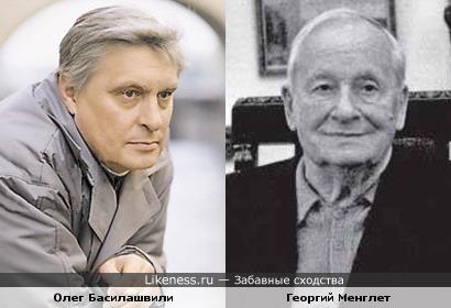 Олег Басилашвили и Георгий Менглет