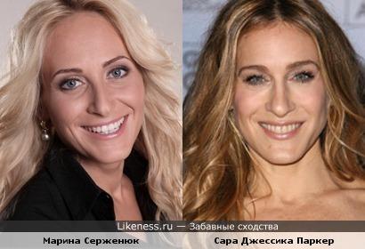 """Участница шоу """"Холостяк"""" Марина Серженюк и Сара Джессика Паркер"""