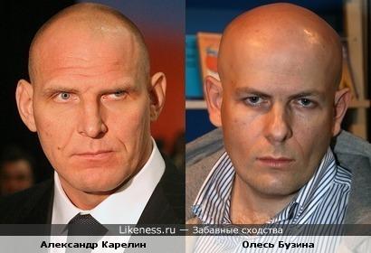 Серьёзные мужчины: Александр Карелин и Олесь Бузина