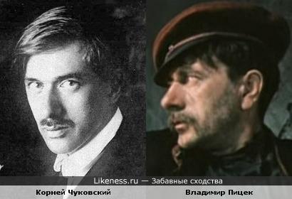 Корней Чуковский и Владимир Пицек