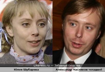 Юлия Шубарева и Александр Масляков-младший