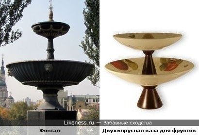 Фонтан в Харькове напомнил двухъярусную вазу для фруктов