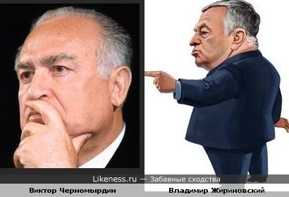 Виктор Черномырдин и Владимир Жириновский