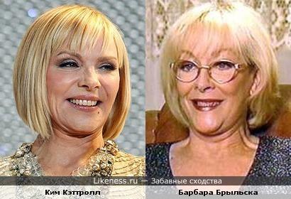 Ким Кэттролл и Барбара Брыльска