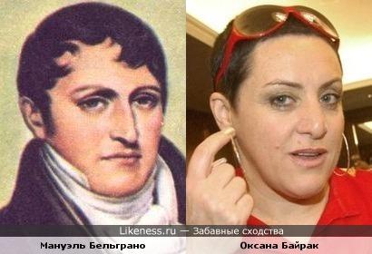 Мануэль Бельграно и Оксана Байрак