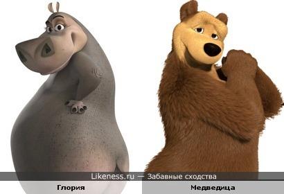 Бегемотиха и Медведица