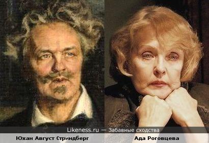 Юхан Август Стриндберг и Ада Роговцева