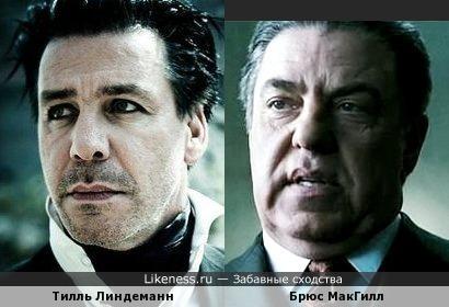 Тилль Линдеманн и Брюс МакГилл