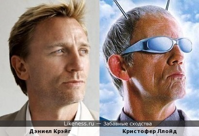 Дэниел Крэйг и Кристофер Ллойд