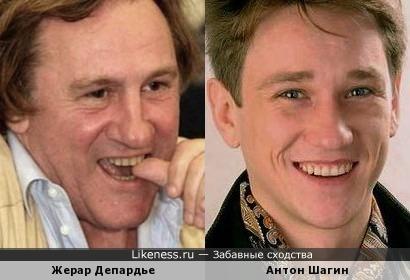 Жерар Депардье и Антон Шагин похожи как отец и сын
