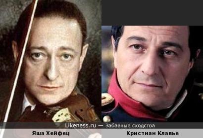 Яша Хейфец и Кристиан Клавье