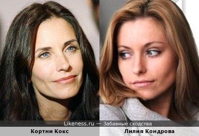 Кортни Кокс и Лилия Кондрова