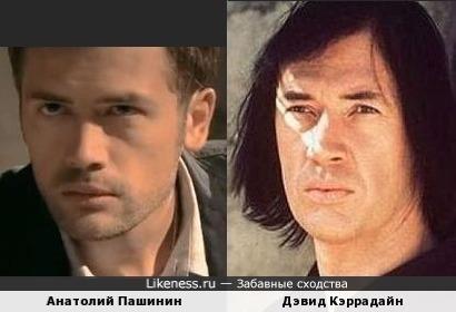 Анатолий Пашинин и Дэвид Кэррадайн