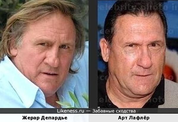 Жерар Депардье и Арт Лафлёр
