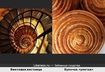 Винтовая лестница напоминает булочку «Улитку»