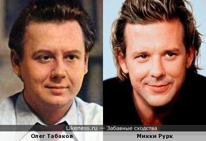Олег Табаков и Микки Рурк