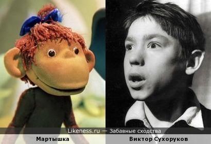 Виктор Сухоруков и персонаж м/ф «38 попугаев»