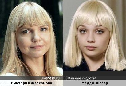 Виктория Железнова и Мэдди Зиглер
