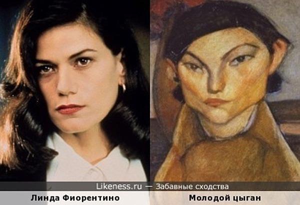 Линда Фиорентино и Молодой цыган (работа Модильяни Амадео)