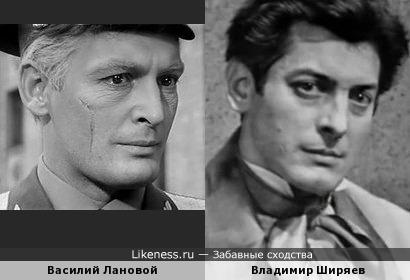 Василий Лановой и Владимир Ширяев